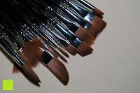Seite: Pinselset Ölmalpinsel - ZWOOS 12 Stk Nylonhaar Pinselset Ölmalpinsel Künstler Aquarell Acryl Ölmalerei Flachpinsel ,Schwarz