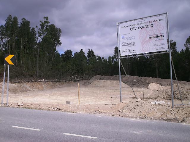 Fotografia das futuras instalações do centro de inspeção técnica de veículos de Freixieiro de Soutelo