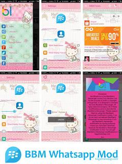 BBM Whatsapp Mod Tema Hello Kitty v2.11.0.16 Apk Terbaru