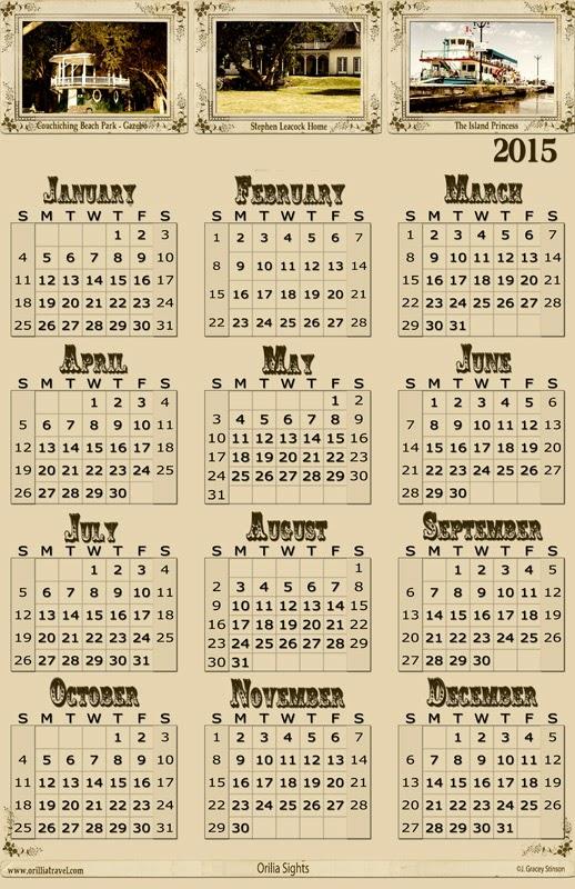 Photography Blography 2015 Promotional Style Calendar - psd file - sample 2015 calendar