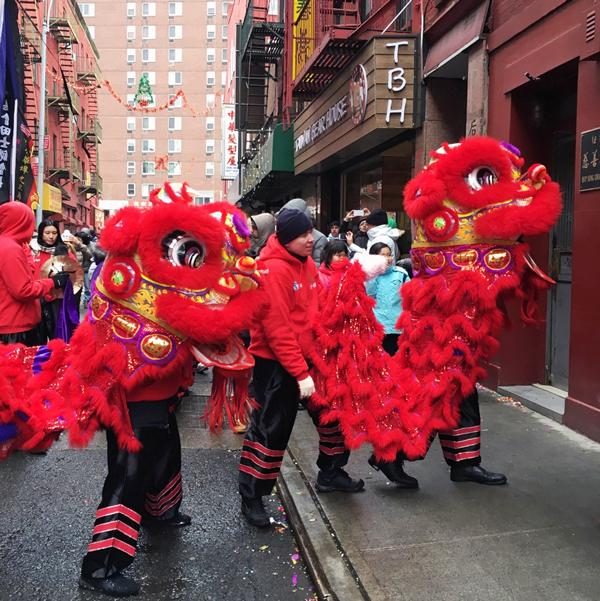 Chinese New Year Lion Dance, Chinatown NYC, New York City