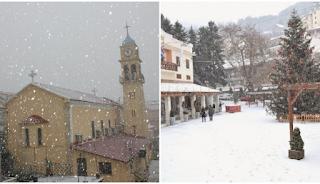 """Χιόνια σε όλη την Ελλάδα: Μαγικές εικόνες από τις πόλεις που """"ντύθηκαν"""" στα λευκά"""