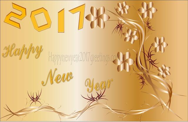 New Year 2017 Golden Background Images For Desktop