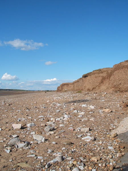 coastal erosion on sand banks in north somerset
