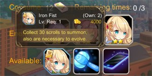 Girls X Battle Farming Scrolls