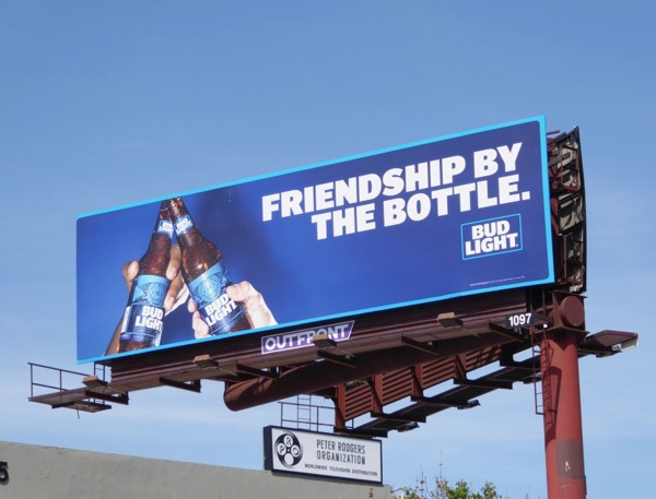 Friendship by bottle Bud Light billboard