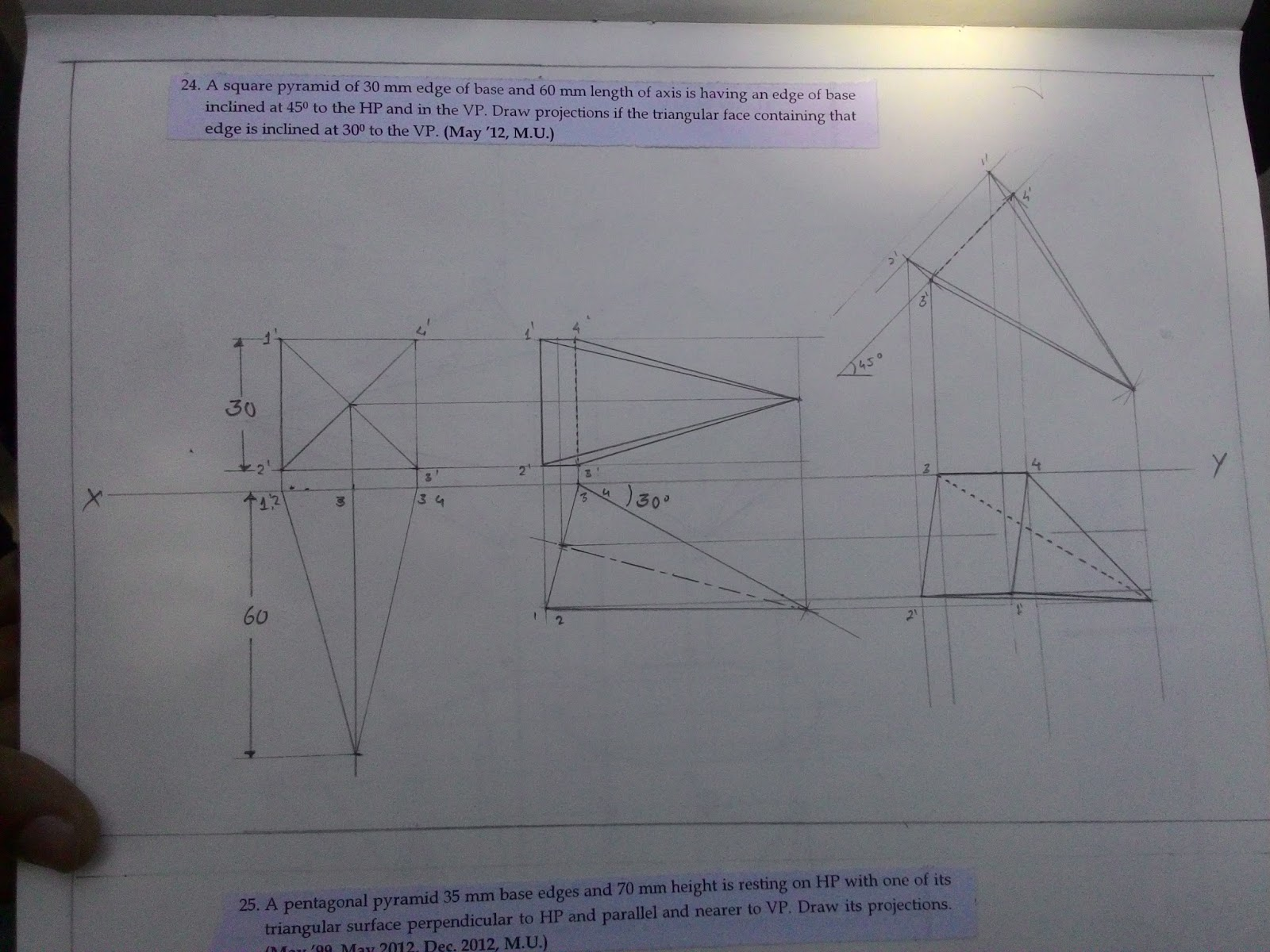Base Of The Pyramid 30 Onkyo Eq25 Wiring Diagram Array Question Bank And Assignment Projection Solids Rh Qbassignment Blogspot Com