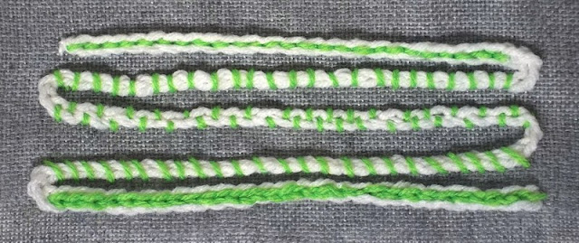 crocheted chain sample 1