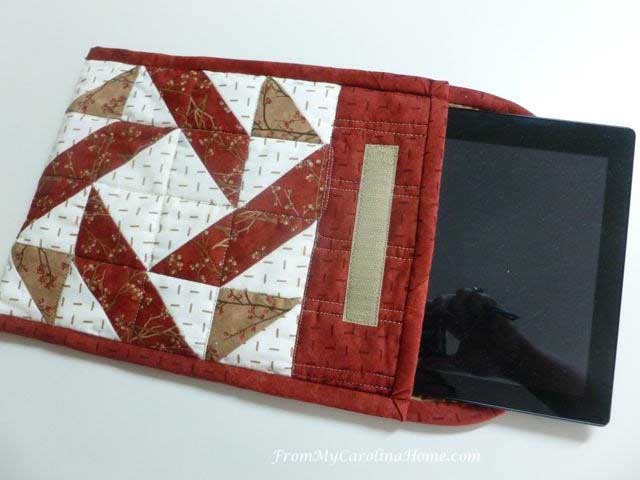 Learn how to make a quilted tablet cover. Tutorial by From My Carolina Home.