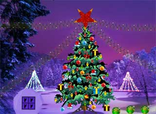 Juegos de Escape - Christmas Light Forest Escape
