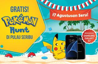 17 Agustusan Seru Hunting Pokemon di Pulau Seribu Menangkan Samsung GALAXY S7
