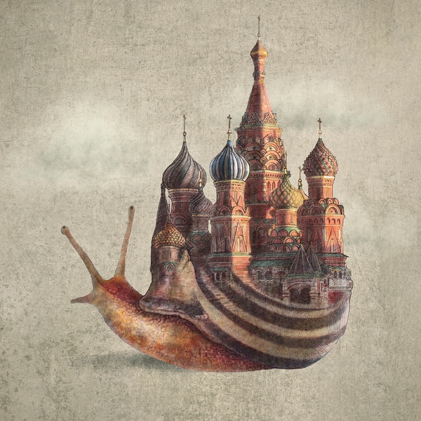 12-The-Snail-s-Daydream-Eric-Fan-Illustration-of-Fantasy-Characters-in-Surreal-Worlds-www-designstack-co