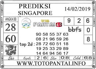 """Prediksi Togel """"SINGAPORE"""" PANTAI4D 14 FEBRUARI 2019"""
