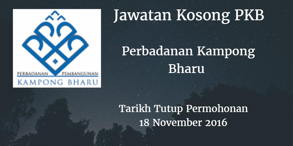Jawatan Kosong PKB 18 November 2016
