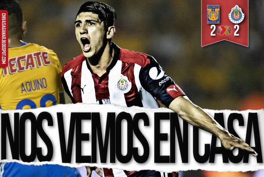 Liga MX : CF Tigres UANL 2-2 CD Guadalajara - Clausura 2017 - Semi/Vuelta.