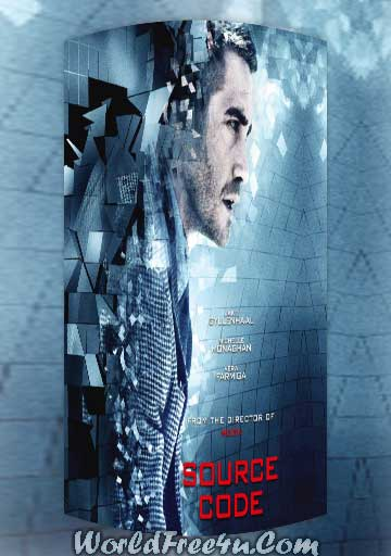 Poster Of Source Code (2011) In Hindi English Dual Audio 300MB Compressed Small Size Pc Movie Free Download Only At worldfree4u.com