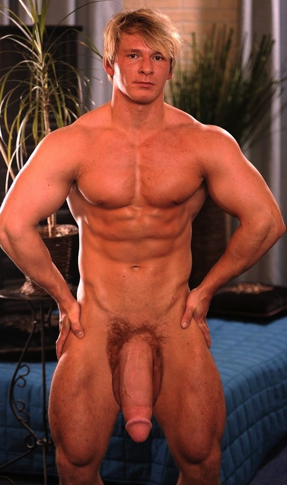 Naked buff guy