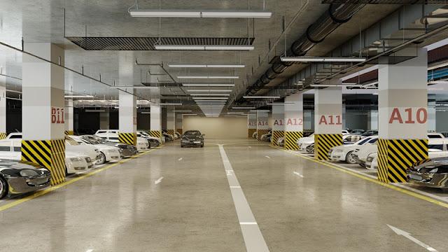 Hầm đỗ xe thông minh tại Booyoung Vina