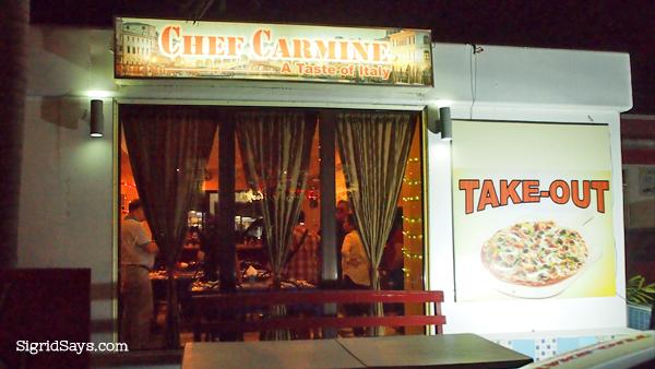 Chef Carmine pizza