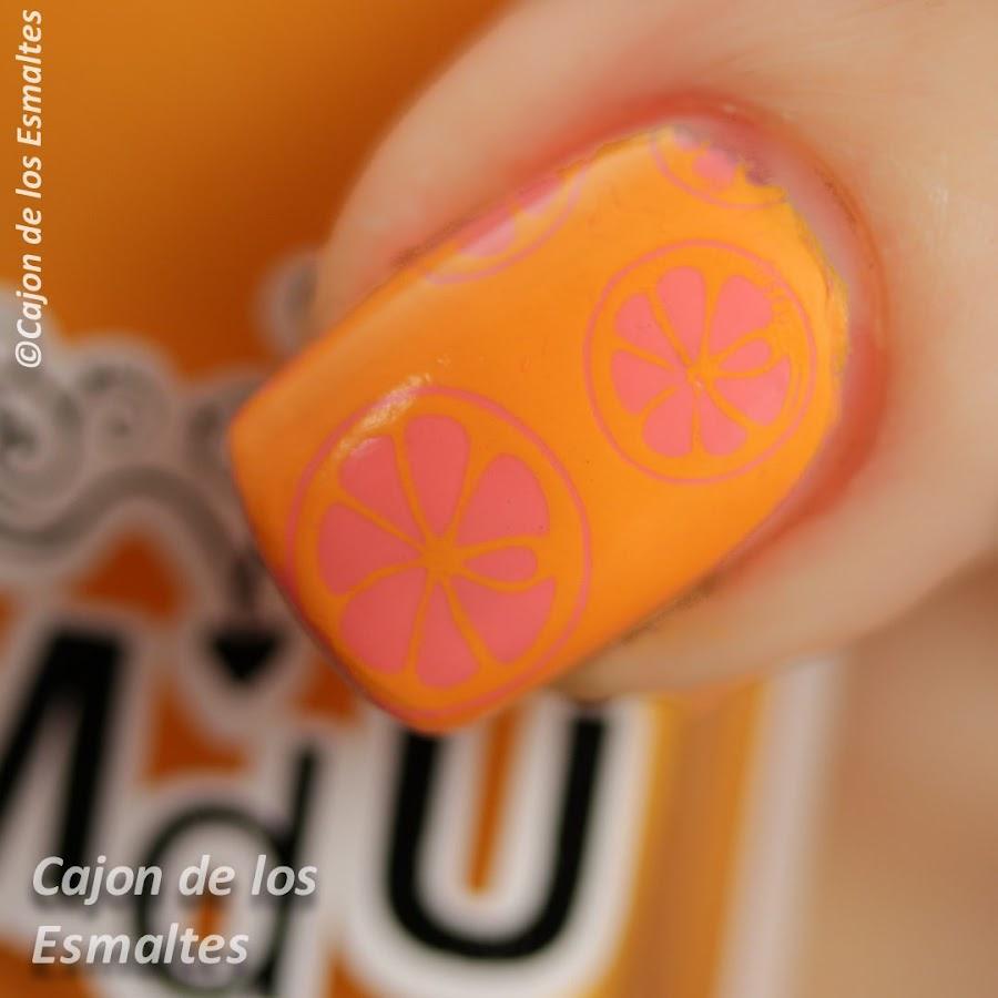 uñas naranja pomelo