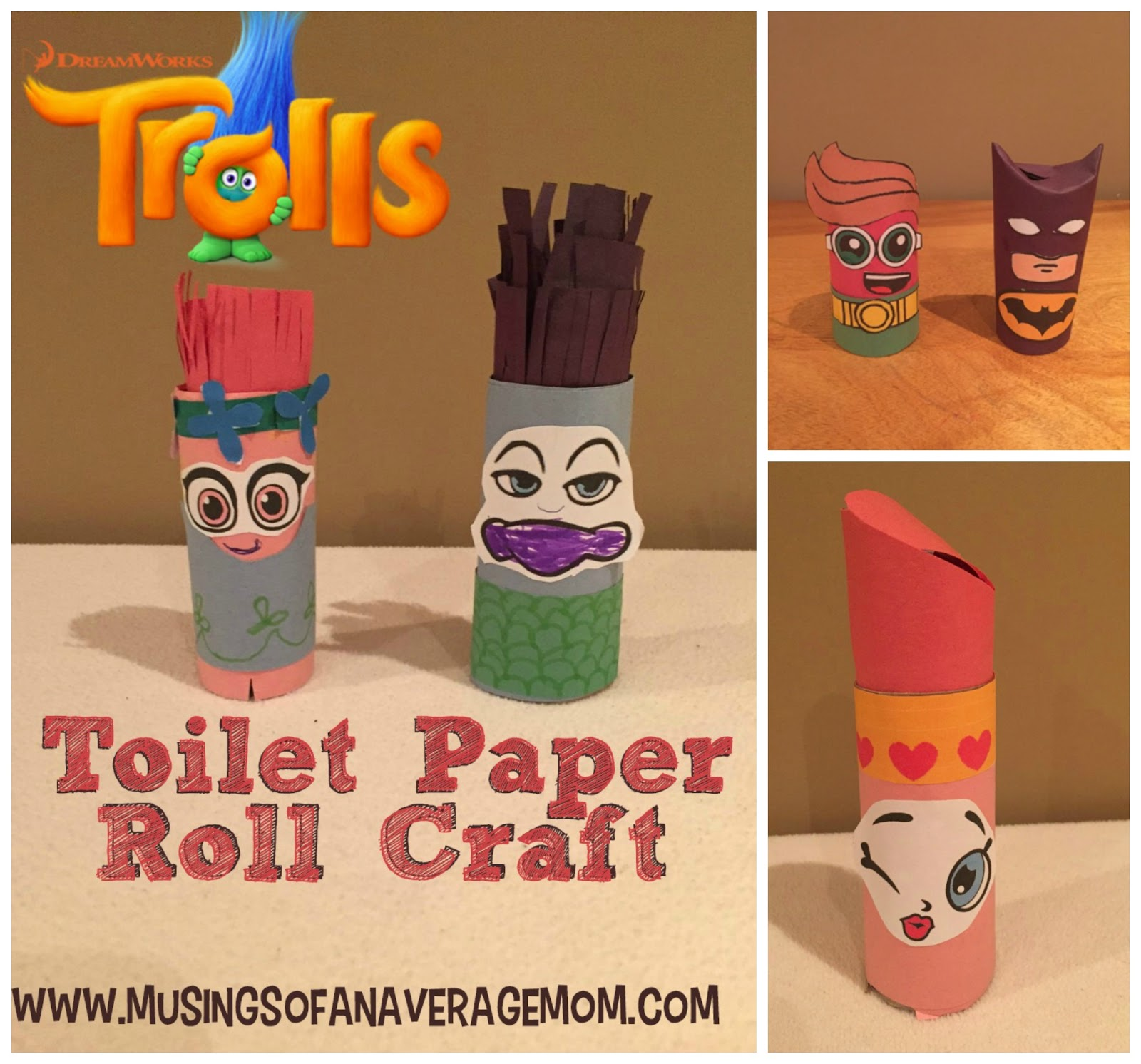 Musings of an average mom moana and pua toilet paper roll for Paper roll projects