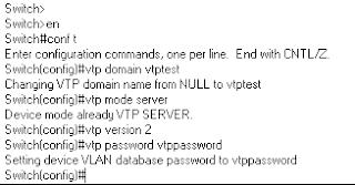 Setting a VTP server