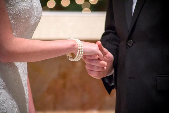 pearls at wedding