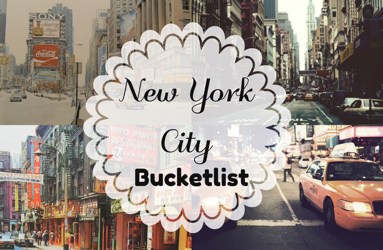 New York City Bucketlist