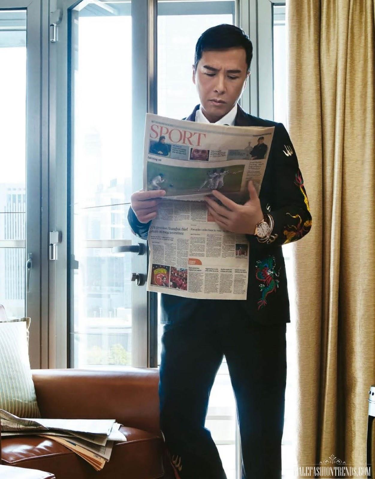 Donnie Yen por Olivia Tsang para Esquire Taiwán