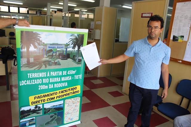 Compradores de lotes no Lago Azul encontram problemas com documentação