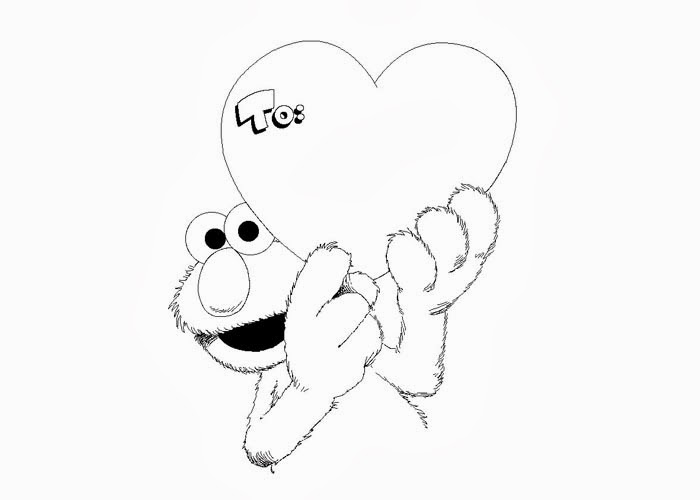 elmo valentine coloring pages - elmo valentine coloring page free coloring pages and