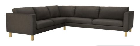 our ikea couch l shaped is now u shaped