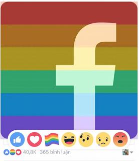 Hướng dẫn cách thả cầu vồng sắc màu trên facebook