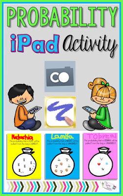Probability iPad Activity: Using Comemories and Doodle Buddy, students will create an image that matches a probability sentence.