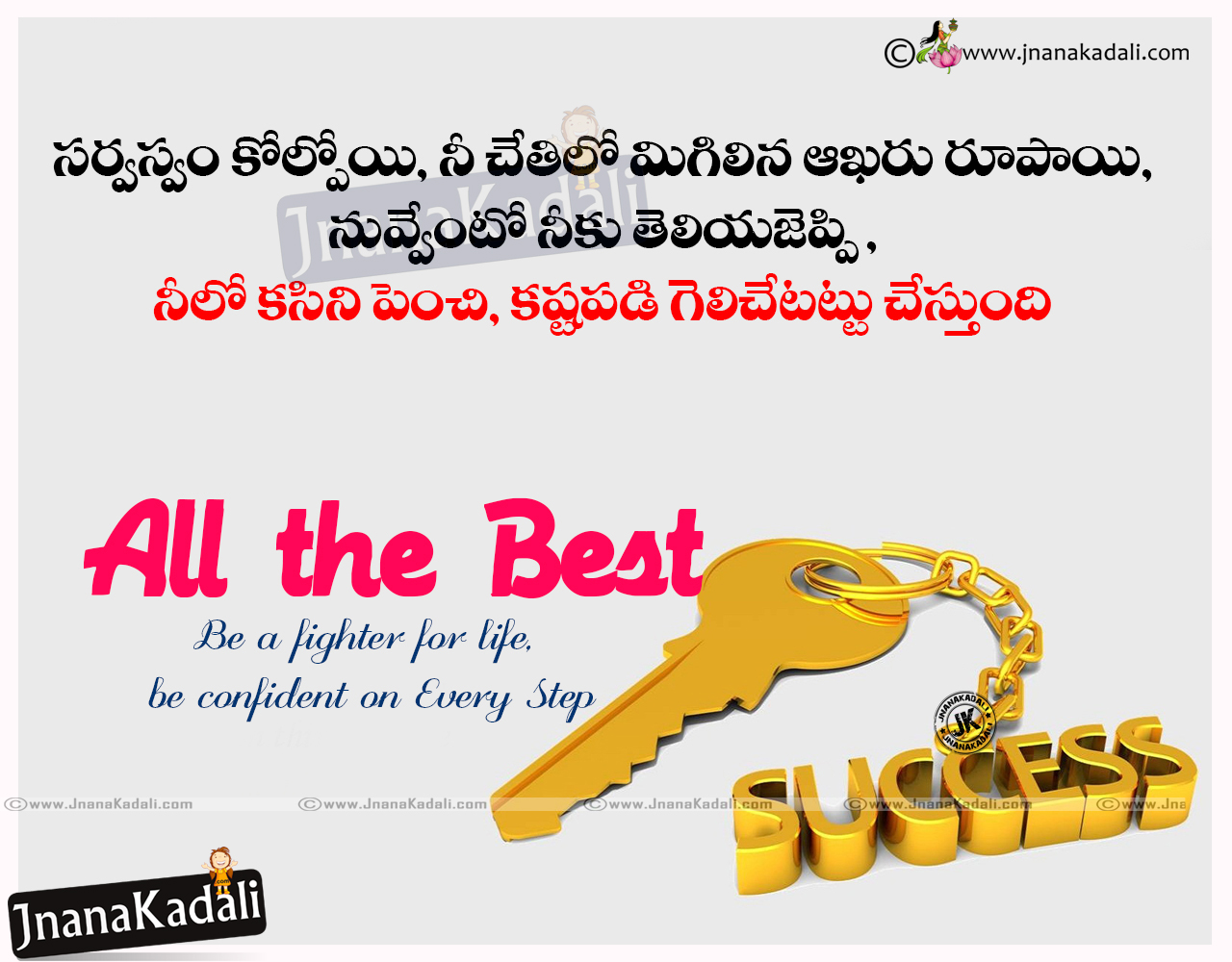 All the best wishes telugu greetings sms quotes hd images brainysms all the best life success sayings for brother goal winning motivational sayings in telugu kristyandbryce Image collections