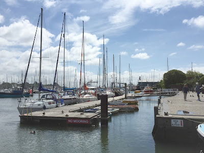 Boats at Lymington harbour