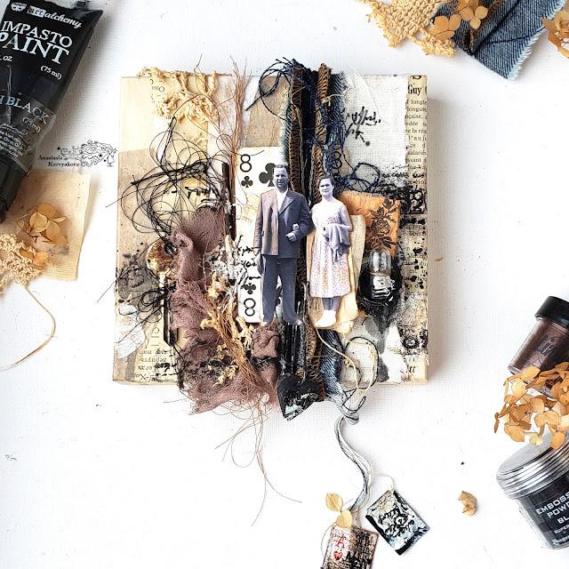 @nastyalena #scrapbooking #mixedmedia #canvas