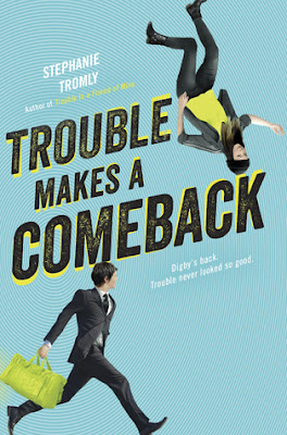 Trouble Makes a Comeback by Stephanie Tromly is the 2nd book in the Trouble series. Fun series, fast read, a touch of mystery and romance and a lot of unrealistic but fun action in this 4.5 out of 5 star rating book review. YA lit, high school, teen reads. Alohamora Open a Book http://alohamoraopenabook.blogspot.com/
