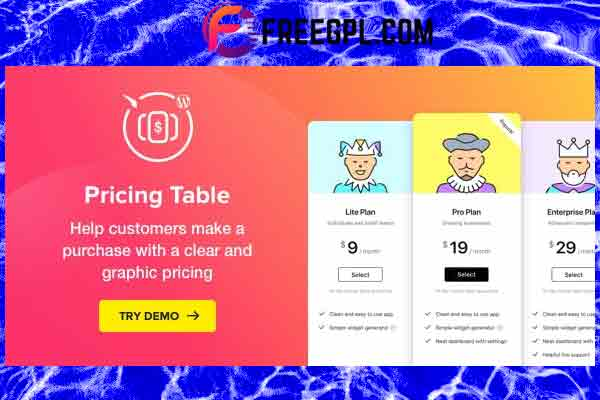 Elfsight Pricing Table Plugin Free Download