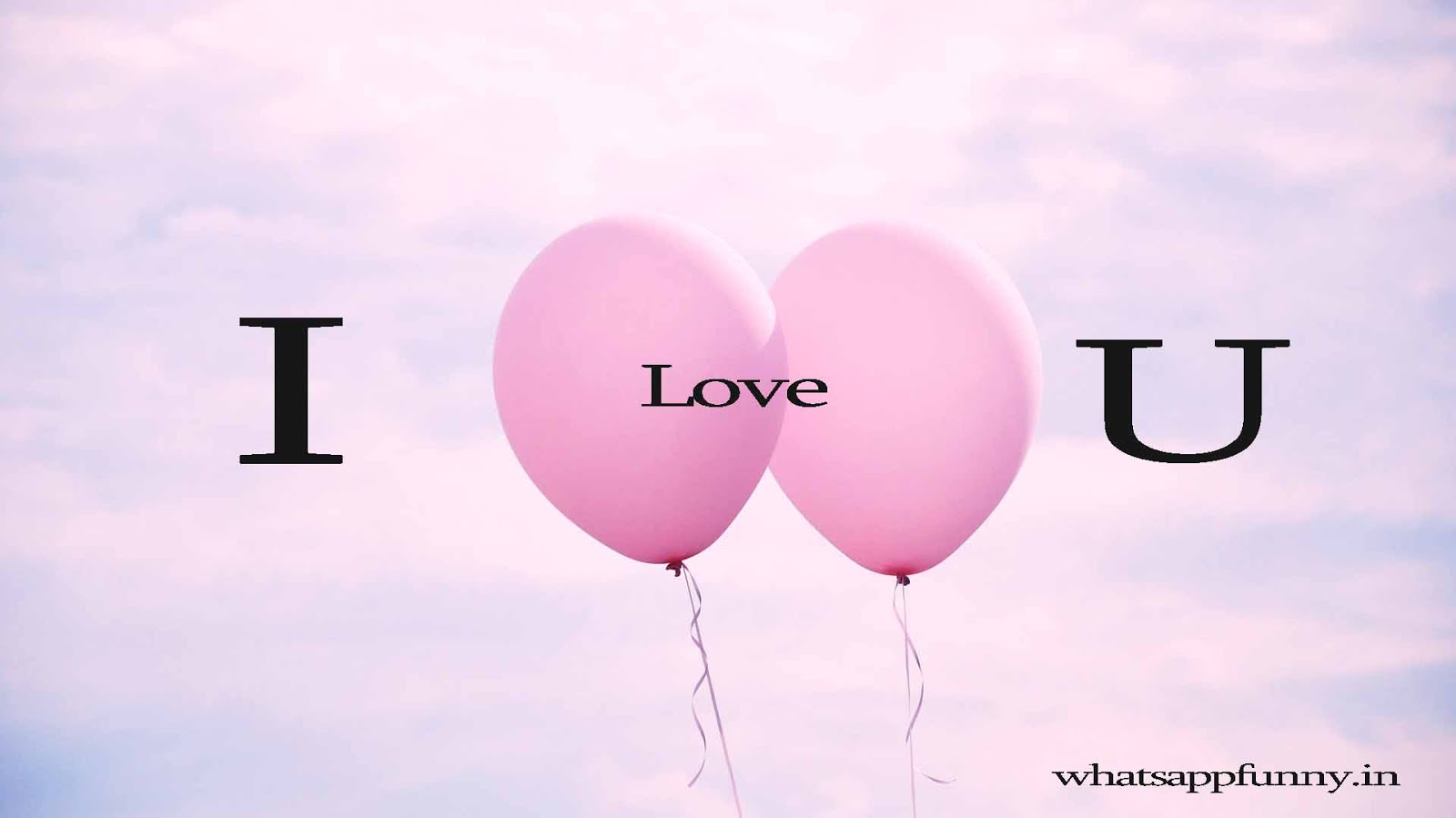 i love you on ballon image