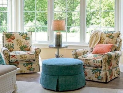 Coastal Upholstered Accent Side Chairs