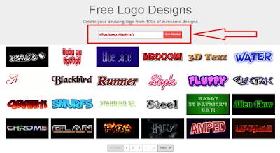 Mengganti judul blog dengan variasi logo keren
