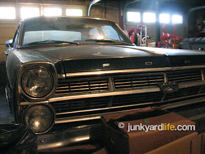 Owned for 50 years, has a 289 engine and three-speed column shift transmission.