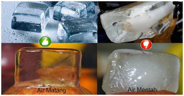 Wajib Tahu dan Dicoba Nih ! Ini Cara Membedakan Es Batu yang Kamu Konsumsi dari Air Mentah Atau Matang !!