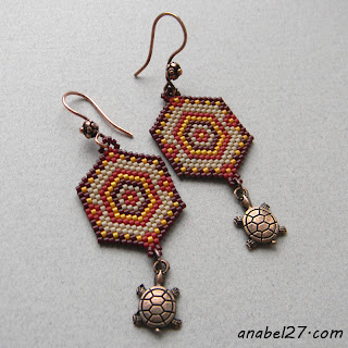 native american style earrings beadwork beaded jewelry