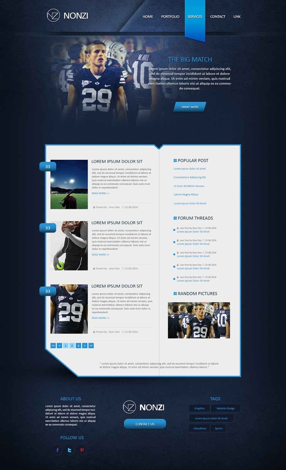 Designing an Creative Blog Design In Photoshop