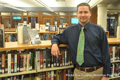 Photo of Dan Burniston, new Library Director at Edith B. Siegrist Vermillion Public Library. Photography by Riva Sharples)