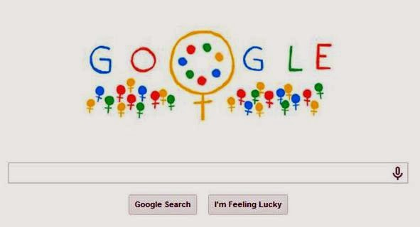 Colorful and creative Women's Day 2014 Google Doodle