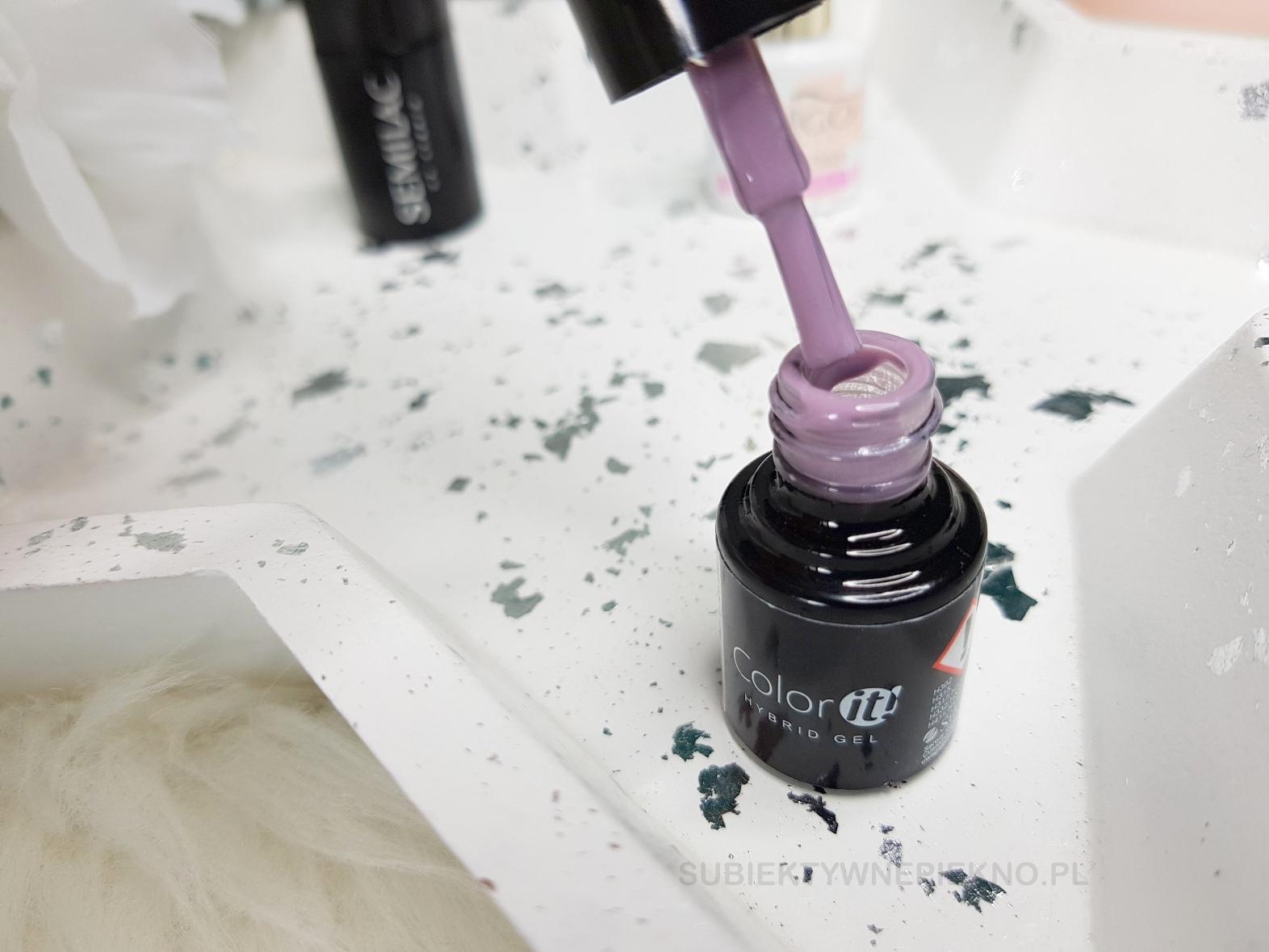 Termiczny lakier hybrydowy Color It Premium 2610 fiolet z szarością