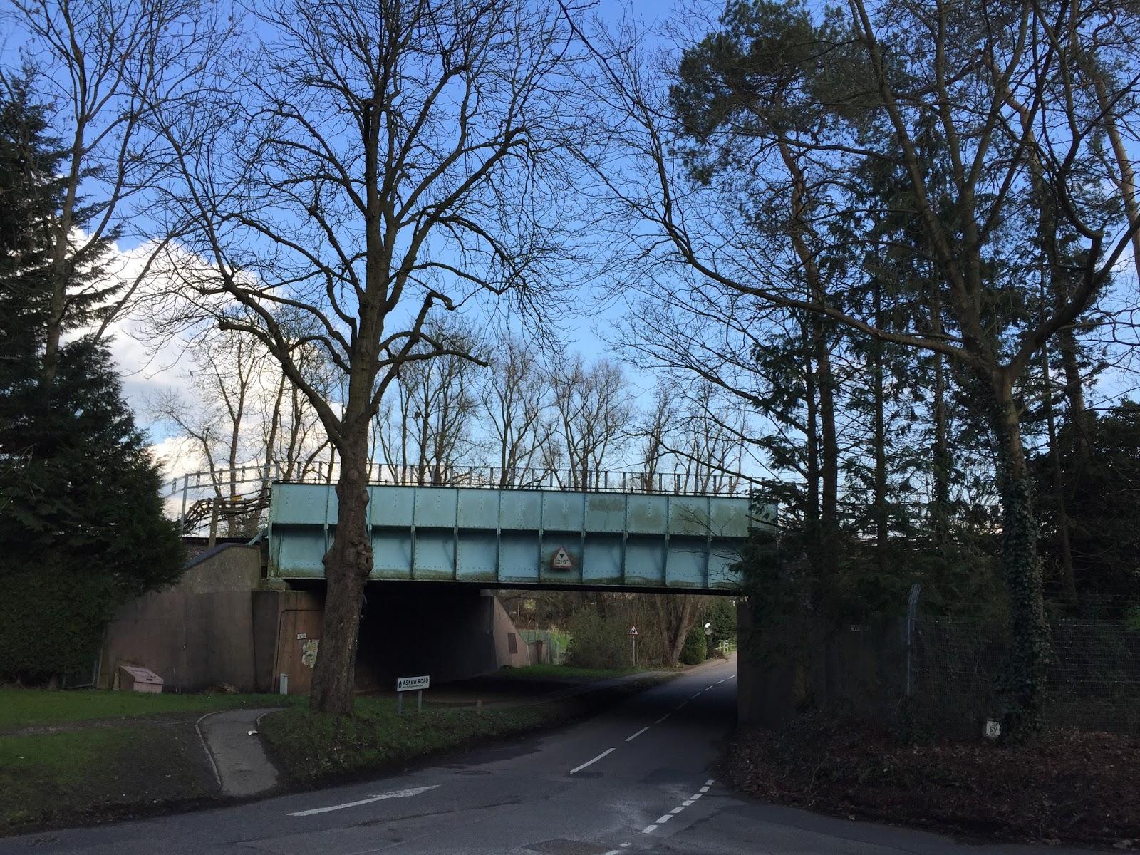 Bridge carrying the Metropolitan line north from Moor Park